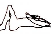 Zeichnung einer Blindgeborenen